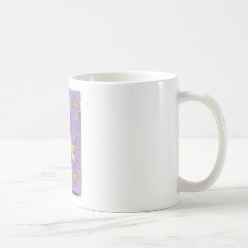 Puppy sleeping on the moon classic white coffee mug