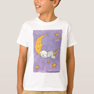 Puppy sleeping on the moon T-Shirt