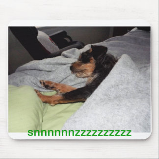 puppy snooze mouse pad