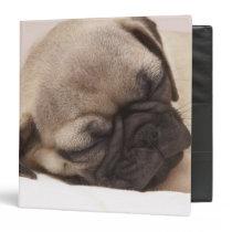 Puppy Soundly Sleeping 3 Ring Binder