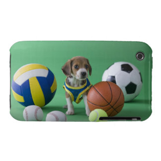 Puppy surrounded by sport balls Case-Mate iPhone 3 case