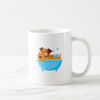Puppy Taking A Bubble Bath In  Tub Coffee Mug