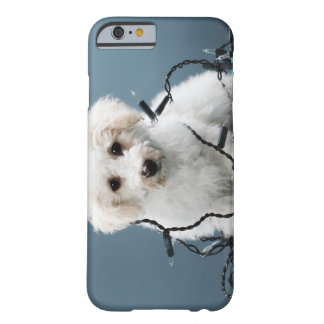 Puppy tangled in Christmas lights Barely There iPhone 6 Case