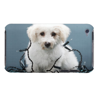 Puppy tangled in Christmas lights Barely There iPod Cover