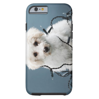 Puppy tangled in Christmas lights Tough iPhone 6 Case