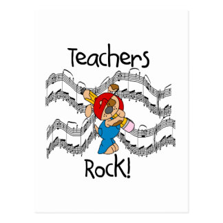Puppy Teachers Rock Tshirts and Gifts Postcard