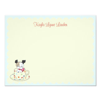 Puppy Teacup | Children's Personalized Stationery Card