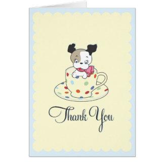 Puppy Teacup  |  Retro Thank You Card