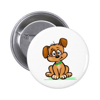 Puppy Tilt Pinback Button
