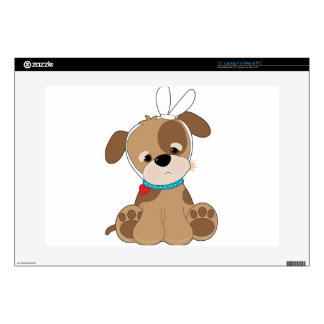 """Puppy Toothache Decal For 15"""" Laptop"""