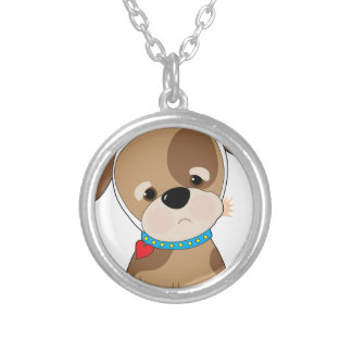 Puppy Toothache Silver Plated Necklace