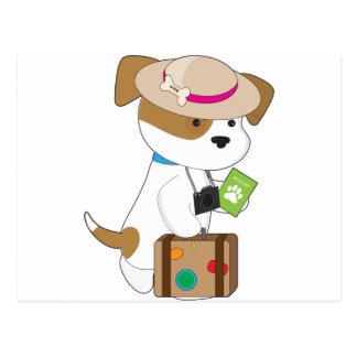 Puppy Travel Postcard
