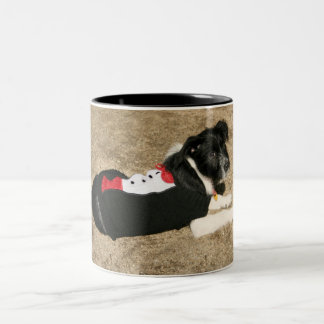 Puppy Tux Two-Tone Coffee Mug
