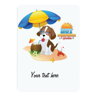 Puppy vacation personalized announcements