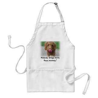 Puppy Waits for Food Adult Apron