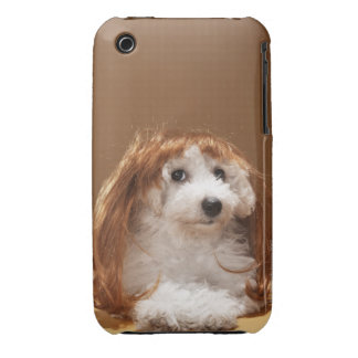 Puppy wearing ginger wig iPhone 3 cover
