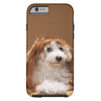 Puppy wearing ginger wig tough iPhone 6 case
