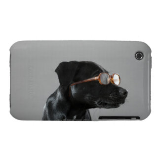 Puppy wearing glasses Case-Mate iPhone 3 case