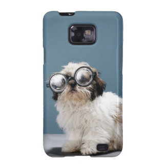 Puppy wearing thick glasses galaxy s2 cover