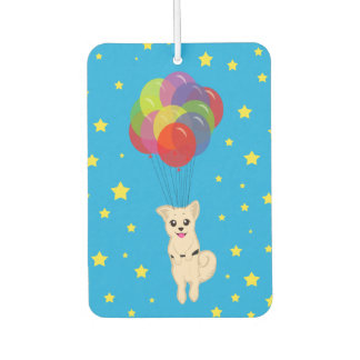 Puppy with Balloons Car Air Freshener