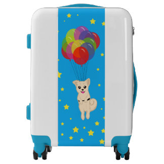 Puppy with Balloons Luggage