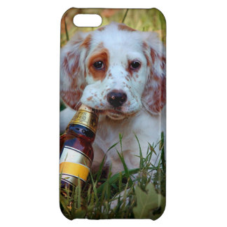 Puppy With Beer Bottle iPhone 5C Cover