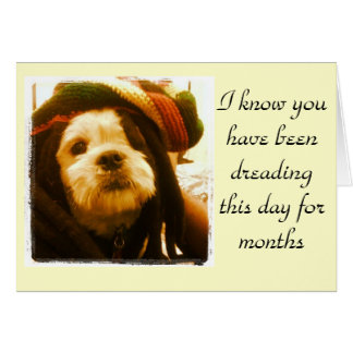 Puppy With Dreads Card