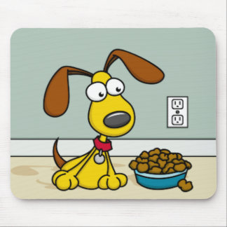 Puppy with Food Mousepad