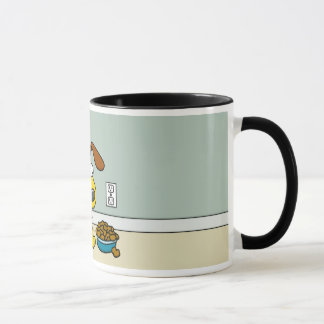 Puppy with Food Mug