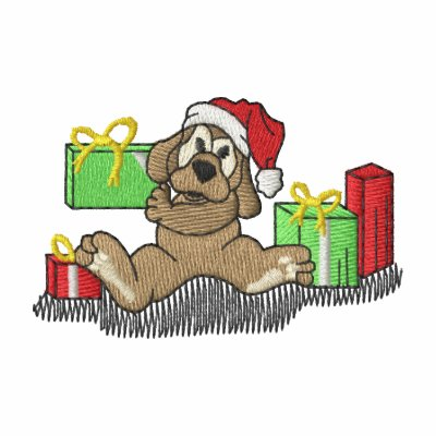 Puppy with gifts