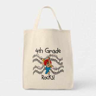 Puppy With Pencil 4th  Grade Rocks Canvas Bag