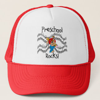 Puppy With Pencil Preschool Rocks Trucker Hat