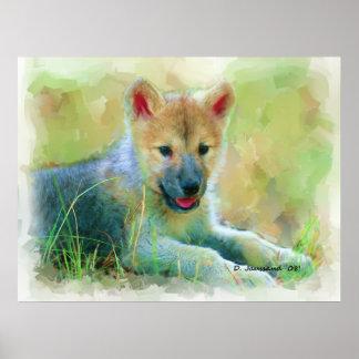 Puppy Wolf Art Print
