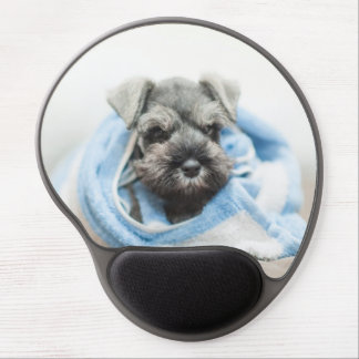 Puppy wraps with towel. gel mouse pad