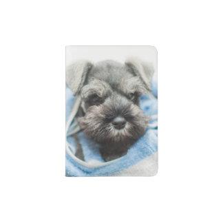 Puppy wraps with towel. passport holder