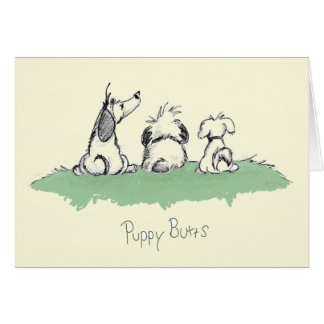 puppybutts stationery note card