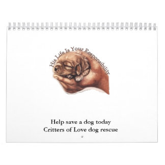 Puppyhand, Help save a dog today Critters of Lo... Calendars