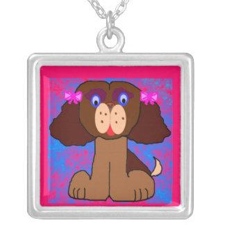 Puppykin Square Pendant Necklace
