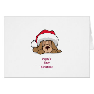 Puppy's FIrst Christmas Greeting Cards