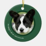 Puppy's First Christmas (Cardigan Welsh Corgi) Ceramic Ornament
