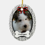 Puppy's First Christmas Double-Sided Oval Ceramic Christmas Ornament