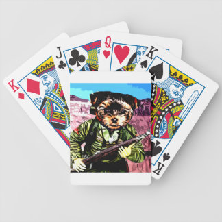 Puppy's War Bicycle Playing Cards