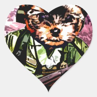 Puppy's War Heart Sticker