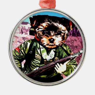 Puppy's War Metal Ornament