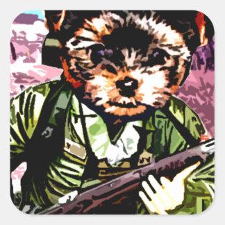 Puppy's War Square Sticker