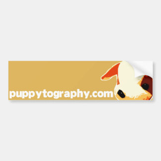 Puppytography Bumper Sticker