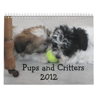 Pups and Critters  2012 Wall Calendars