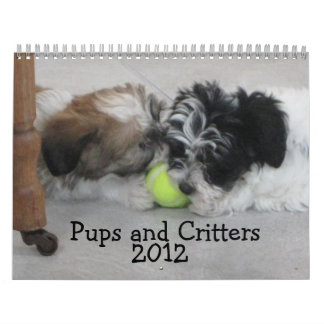 Pups and Critters 2012 Calendar