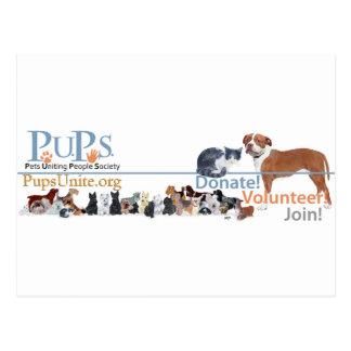 PUPs Logo Merchandise Postcard