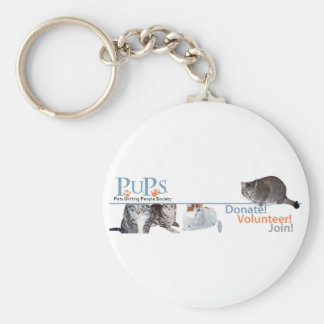 PUPs Logo Merchandise with Cats Key Chains